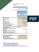 epidemiologic Risk calculator in Microsoft Excel sheet