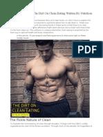 Alan Aragon - The Dirt on Clean Eating Written by Nutrition Expert Alan Aragon (1)