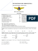 2014-07-09 - Simulado de Matemática - Poliedro - Rumo Ao ITA