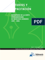Estudios y Capacitacion Repertorio de La Corte Interamericana de DDHH
