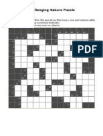 Challenging Kakuro Puzzle