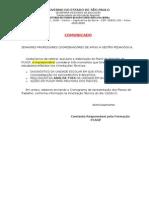 Comunicado e CrSonograma Apresentações Plano de Trabalho Pcagp