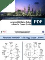 Advanced Distillation Technology - A Basic for Process Simulation