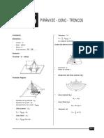 Pirámide, Conos, Troncos
