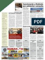 05-03-2015 Sancionarán a Robledo  por adelantarcampaña
