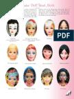 Moldes Cara Barbie