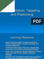 Segmentation Targeting and Positioning EXTRAORDINARIO OJ OJO