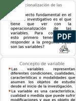 Operacionalización de Las Variables.E