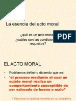 La Esencia Del Acto Moral