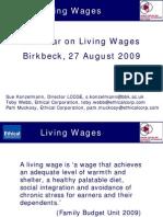 EC LCCGE Living Wages Debate 27 08 09