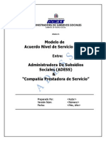Páginas Desdemodelo de Acuerdo de Nivel de Servicios _sla