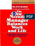 [Blanchard Et Al., 1986] the One Minute Manager Balances Work and Life