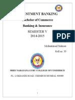 Salman Final Investment Banking