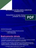 Stereochimie Si Actiunea Mica a Produselor de Sinteza