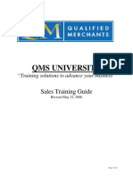 Qualified Merchants Sales Training Guide