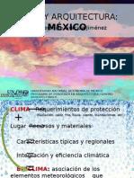 Clima y Arquitectura en México