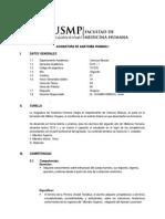 Sílabo Anatomía Humana I 2015-I