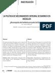 Politica de Mejoramiento Integral de Barrios Medelln