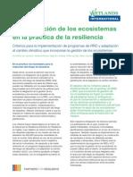 La integración de los ecosistemas en la práctica de la resiliencia
