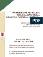 Exposición de Esfuerzo y Corte.