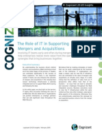 The Role of IT in Supporting Mergers and Acquisitions