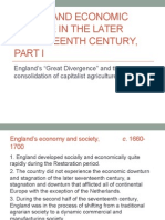 Social and Economic Change in the Later Seventeenth Century, Part I