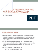 The Early Restoration and the Anglo-Dutch Wars, c. 1660-1674