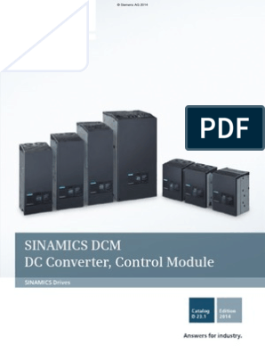 Catalog D23 1_2014_Sinamics DCM (1)   Automation   Power Supply