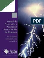 Manual de Prevención y Planeación Para Atención de Desastres Empresas de Archivos