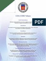 COA Core Values