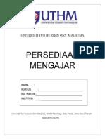 Format Buku Persediaan Mengajar