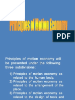 Principles of Motion Economy