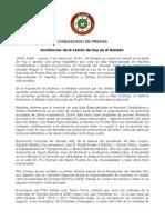 Sesion3.5 Incidencias Del Senado 5 de Marzo de 2015