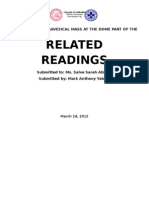 Related Readings - Summary and Reaction