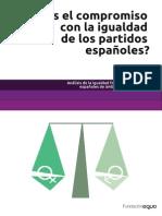 Informe igualdad en los partidos políticos españoles