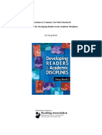 developing academic readers ccss supplement