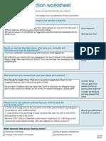 qa practice reflection worksheet