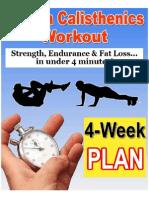 Crossfit Tabata Calisthenics Workout