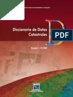 Diccionario de datos catastrales DF