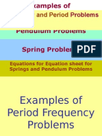 Examples of Pendulum and Spring Problems Answer KEY