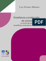 FHCE Behares Enseñanza y producción de conocimiento