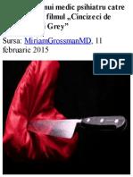 Scrisoarea Unui Psihiatru Despre Filmul Umbra Lui Gray -â