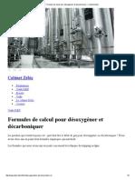 Formules de Calcul Pour Désoxygéner Et Décarboniquer « Cabinet Zebic
