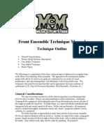Front Ensemble Technique Manual