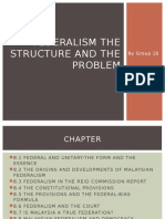 Group 16 Federalism the Structure and the Problem