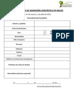 Formulario de Inscripción Campamentos de Inglés