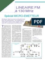 Électronique - AMHzmpli Linéaire FM 75 à 130