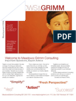 Meadows & Grimm Small Business Services Restaurant Consulting Brochure of Services Offered