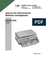 Manual Balanza CWS BA 0610