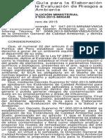 RM N° 034-2015 MINAM